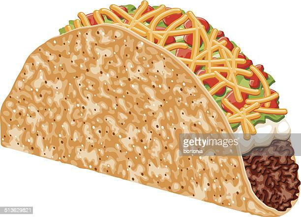 beef taco - mexican food stock illustrations, clip art, cartoons, & icons