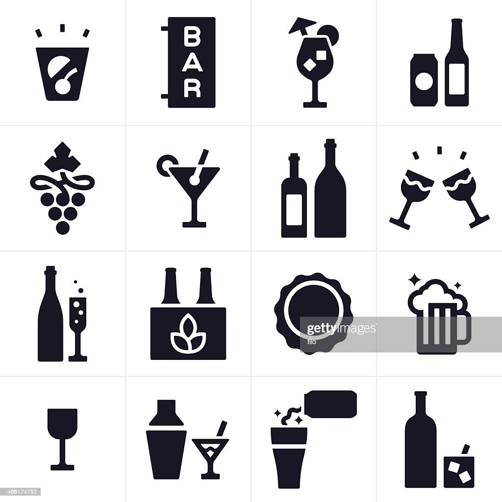 Beer Alcohol and Liquor Icons