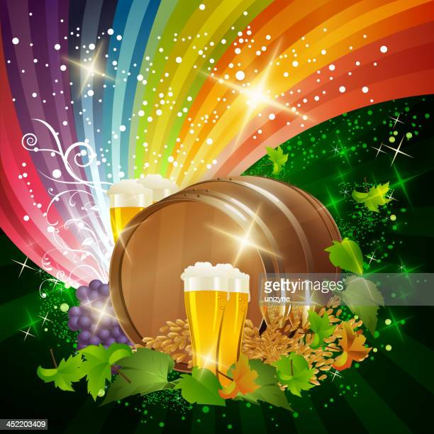 Beer Barrel with Bright Background