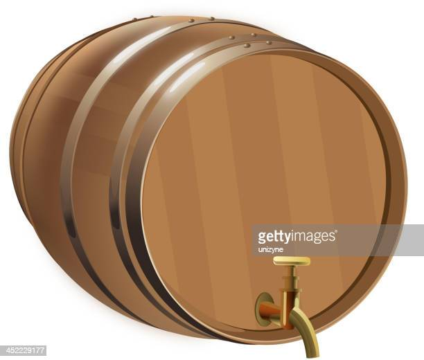 Beer Barrel with Isolated Background