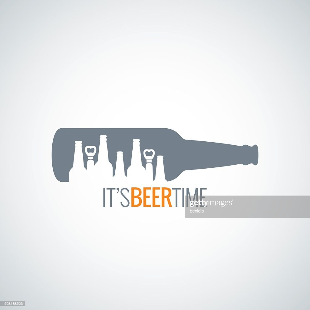 beer bottle city concept design background