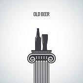 beer bottle glass classic design background
