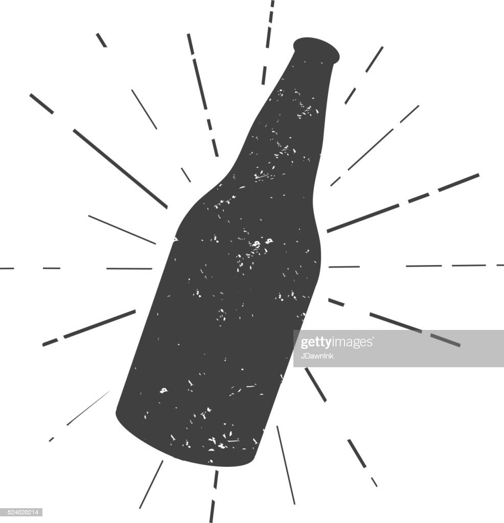 Beer bottle silhouette