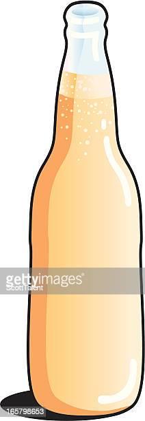 beer bottle - lager stock illustrations, clip art, cartoons, & icons