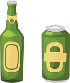 Beer bottle vector illustration.