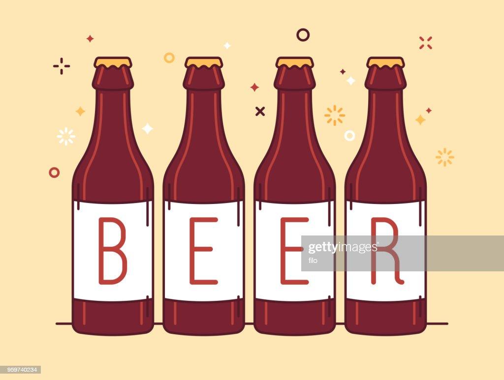 Beer Bottles : stock illustration