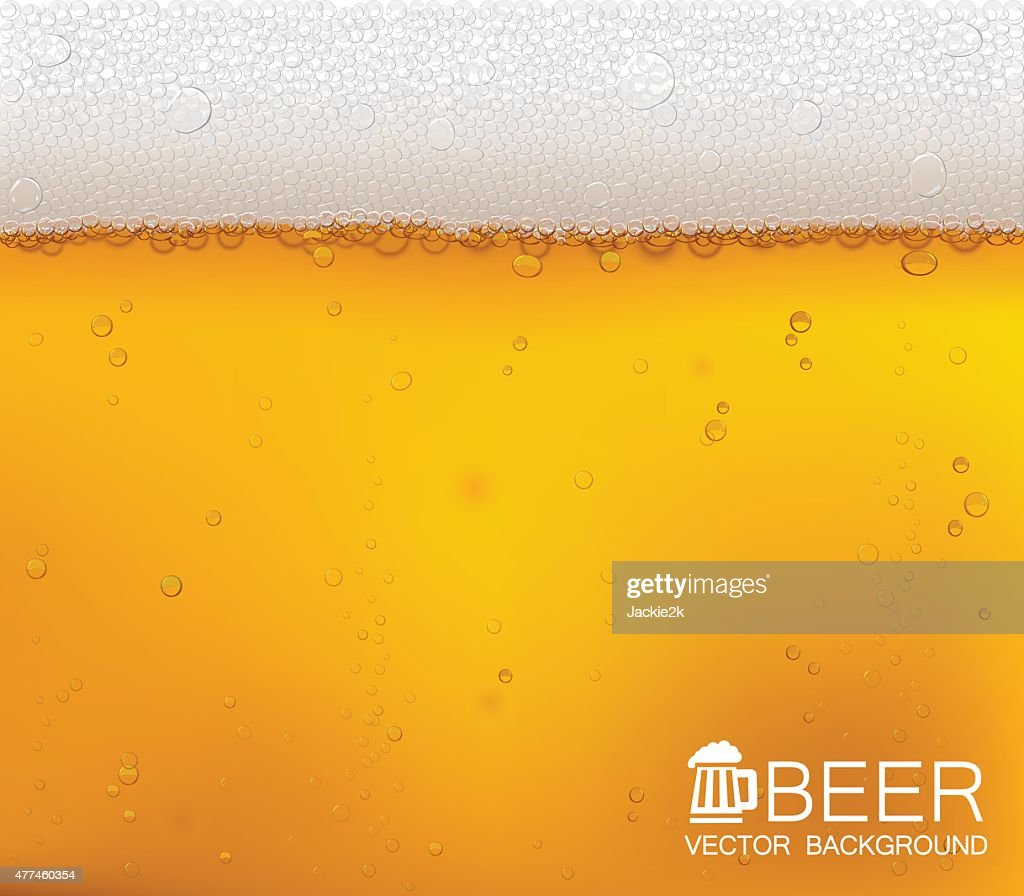 Beer bubbles close-up.