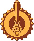 beer cap tap icon
