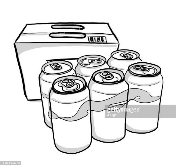 ビールケース - 6缶パック点のイラスト素材/クリップアート素材/マンガ素材/アイコン素材
