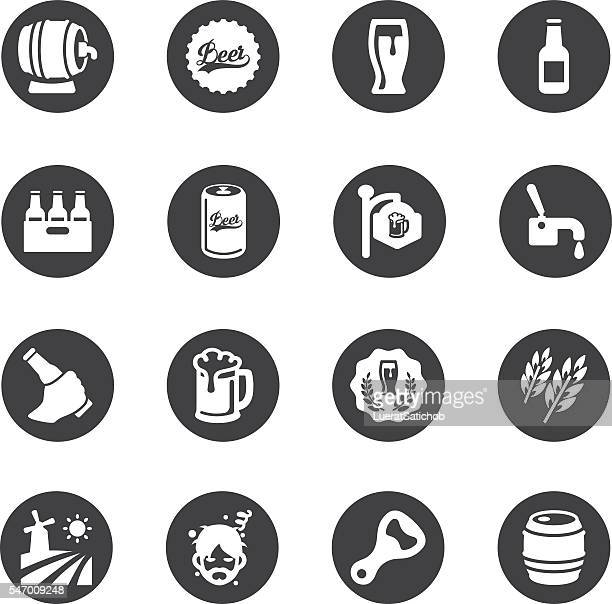 Beer Circle Silhouette icons | EPS10