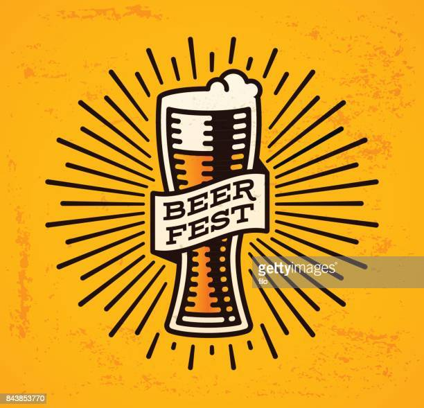 beer fest - beer glass stock illustrations, clip art, cartoons, & icons