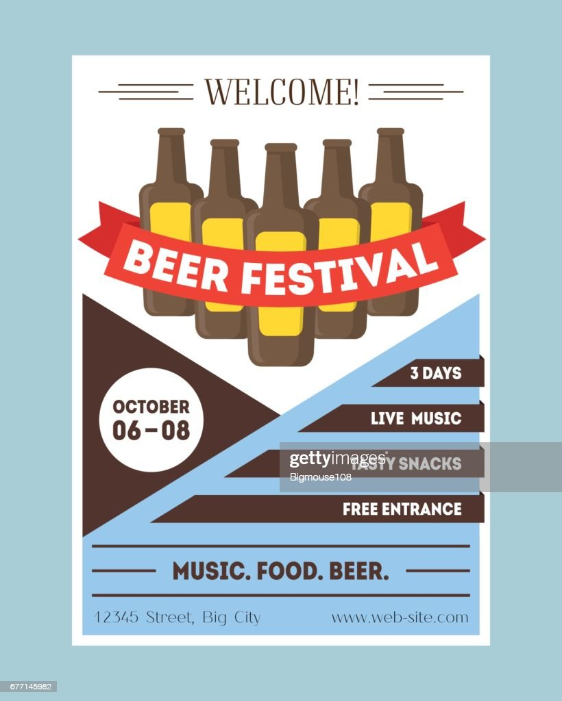 Beer festival invitation card or party poster vector vector art beer festival invitation card or party poster vector vector art stopboris Images