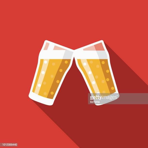 ビール フラット デザイン ドイツ アイコン - 乾杯点のイラスト素材/クリップアート素材/マンガ素材/アイコン素材