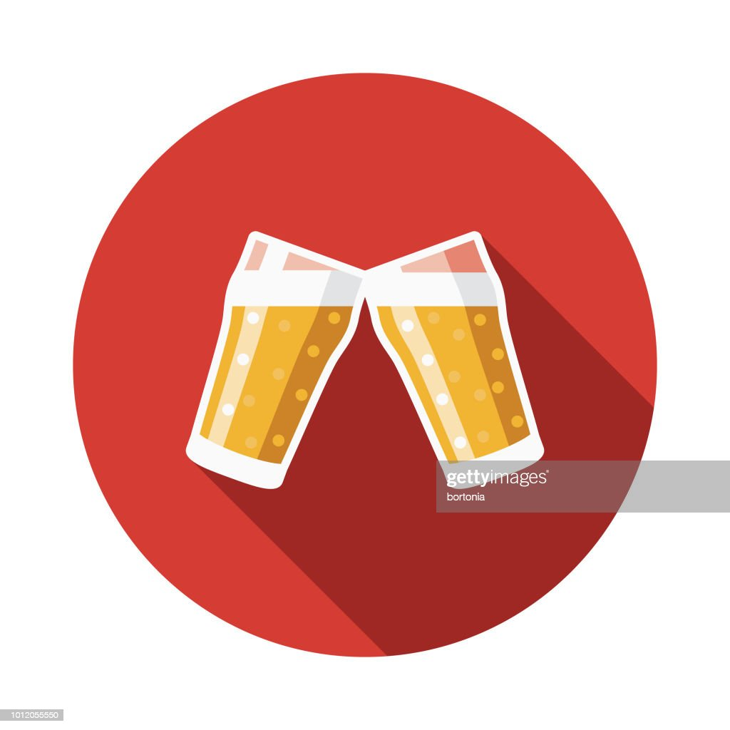 Beer Flat Design Germany Icon : stock illustration