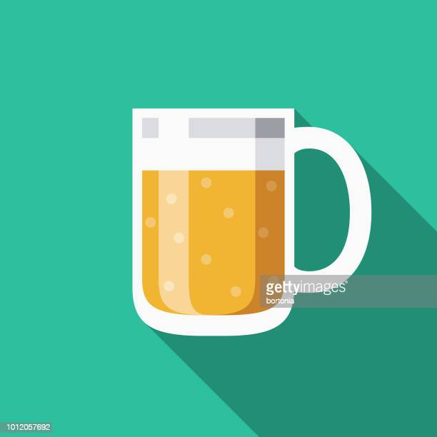 beer flat design germany icon - carbonated stock illustrations, clip art, cartoons, & icons