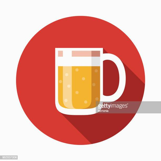 beer flat design western icon - carbonated stock illustrations, clip art, cartoons, & icons