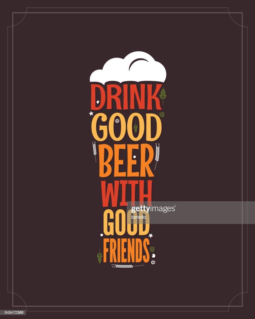 beer glass concept slogan background
