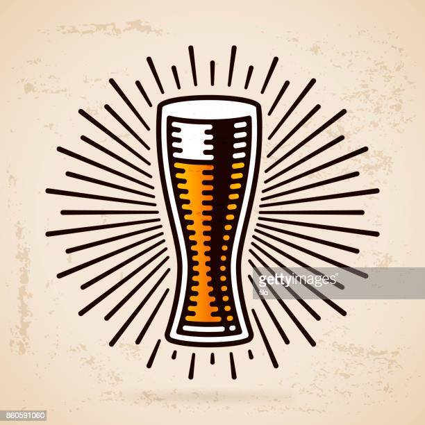 beer glass - lager stock illustrations, clip art, cartoons, & icons