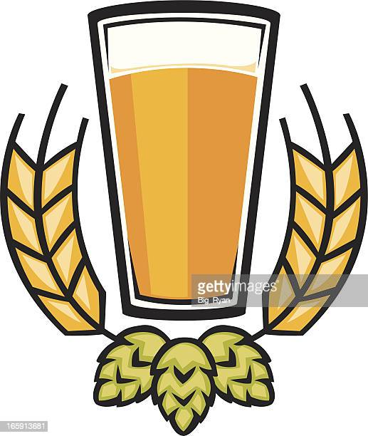 beer graphic - pint glass stock illustrations