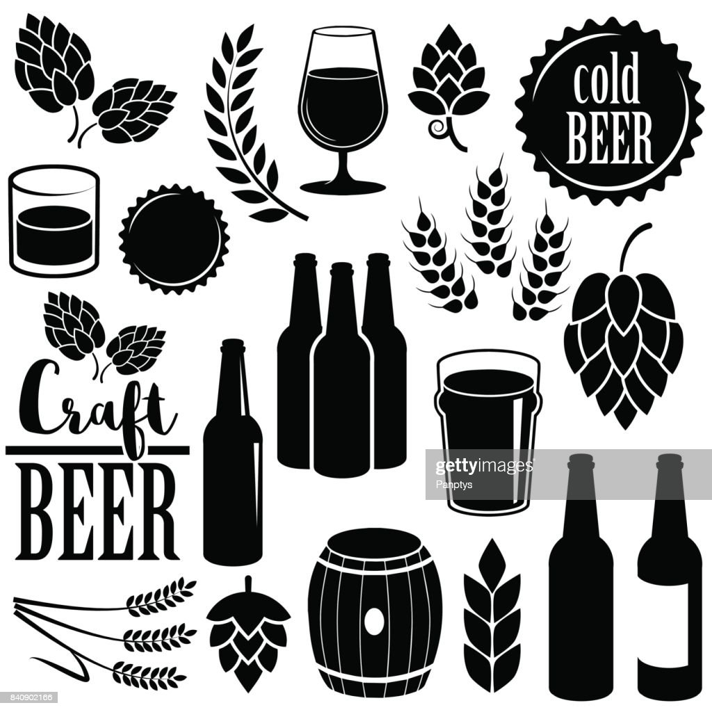 Beer icon isolated on white background. Vector art.