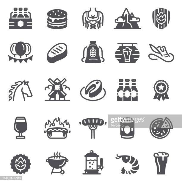 beer icons. food and drinks set - artisanal food and drink stock illustrations, clip art, cartoons, & icons