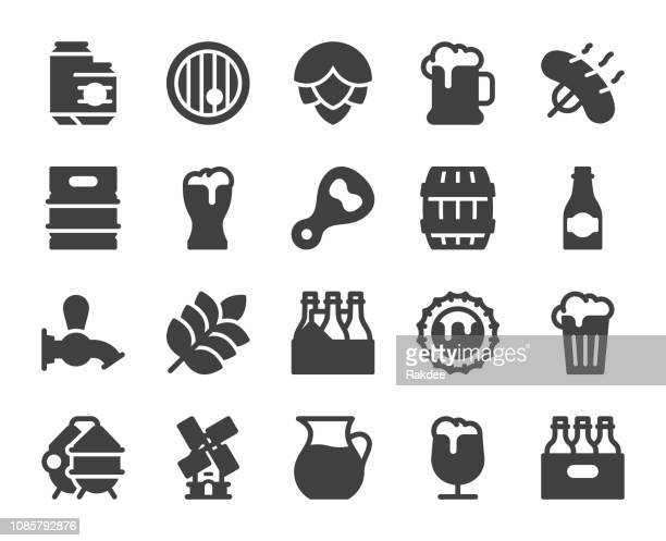 beer - icons - glazed food stock illustrations, clip art, cartoons, & icons