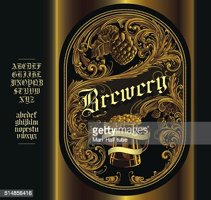Beer Label Vector Art  Getty Images