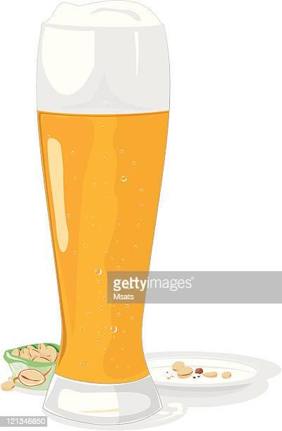 Beer mug and pistachio
