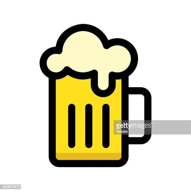 ilustraciones, imágenes clip art, dibujos animados e iconos de stock de beer mug icon - vaso de cerveza