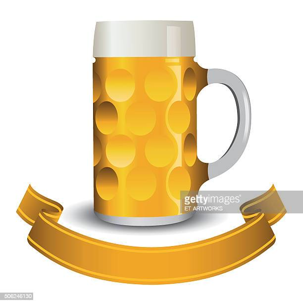 beer mug - beer glass stock illustrations, clip art, cartoons, & icons