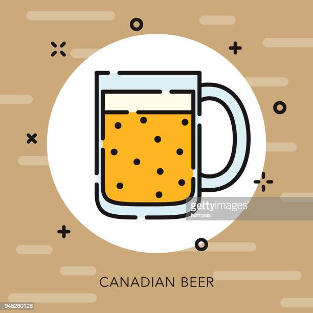 beer open outline canadian icon - ale stock illustrations