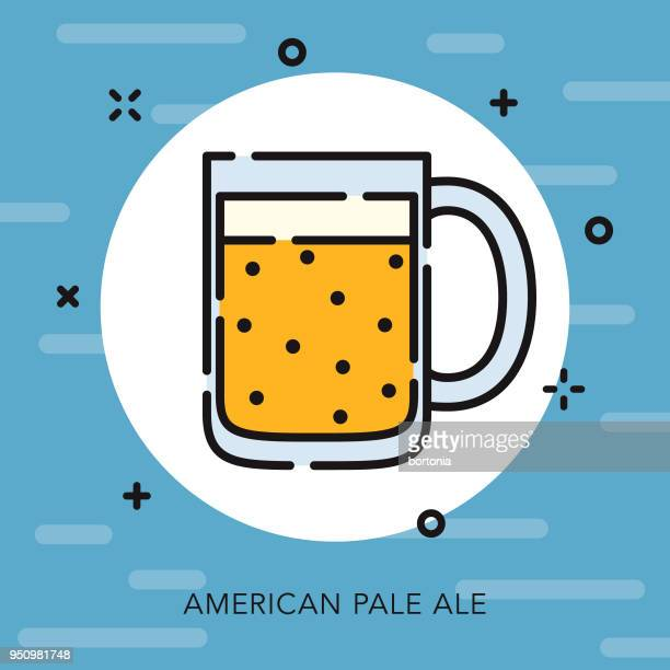 beer open outline usa icon - artisanal food and drink stock illustrations, clip art, cartoons, & icons