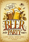 Beer party poster concept