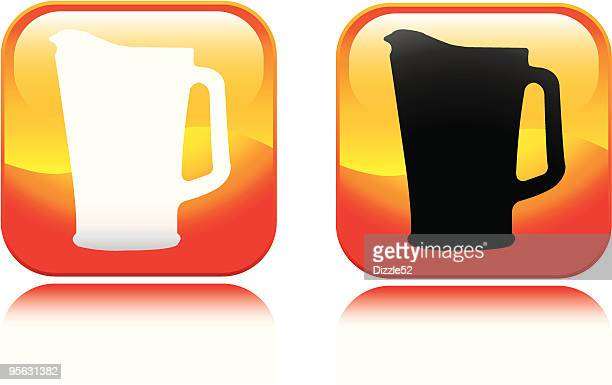 beer pitcher icon - lager stock illustrations, clip art, cartoons, & icons