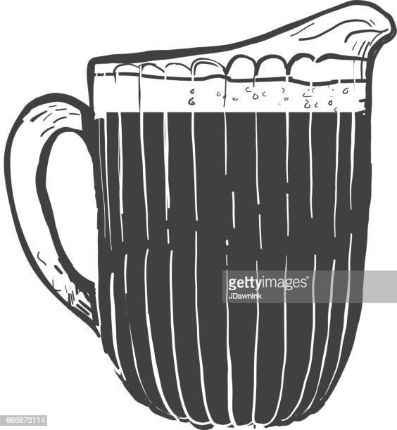 beer pitcher - jug stock illustrations, clip art, cartoons, & icons