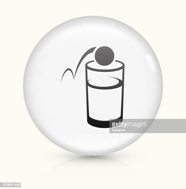 ビール ピンポン 白くて丸いベクトルボタンのアイコン