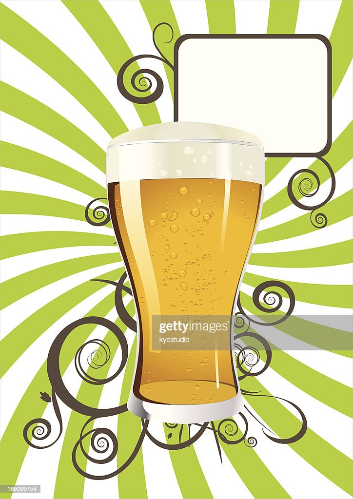 Beer poster : stock illustration