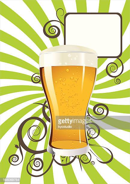 beer poster - lager stock illustrations, clip art, cartoons, & icons