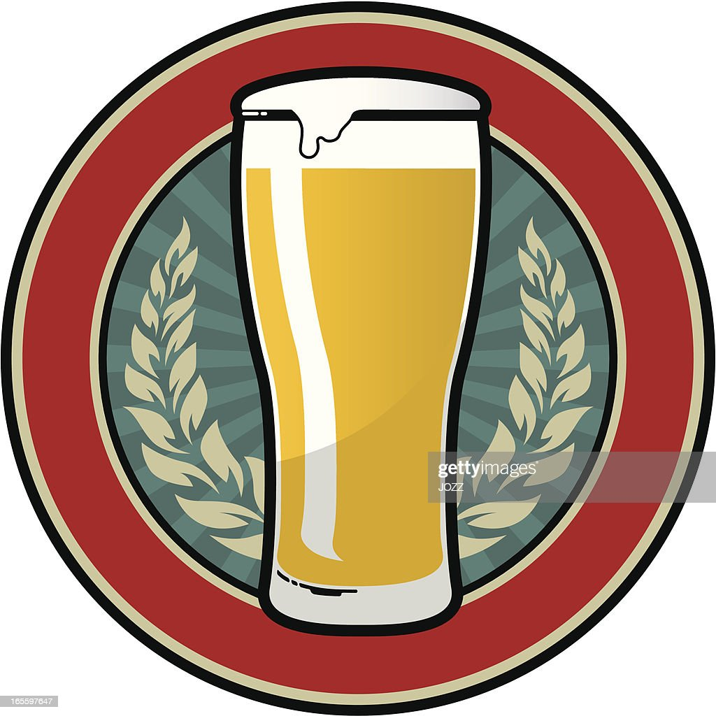 beer retro emblem : stock illustration