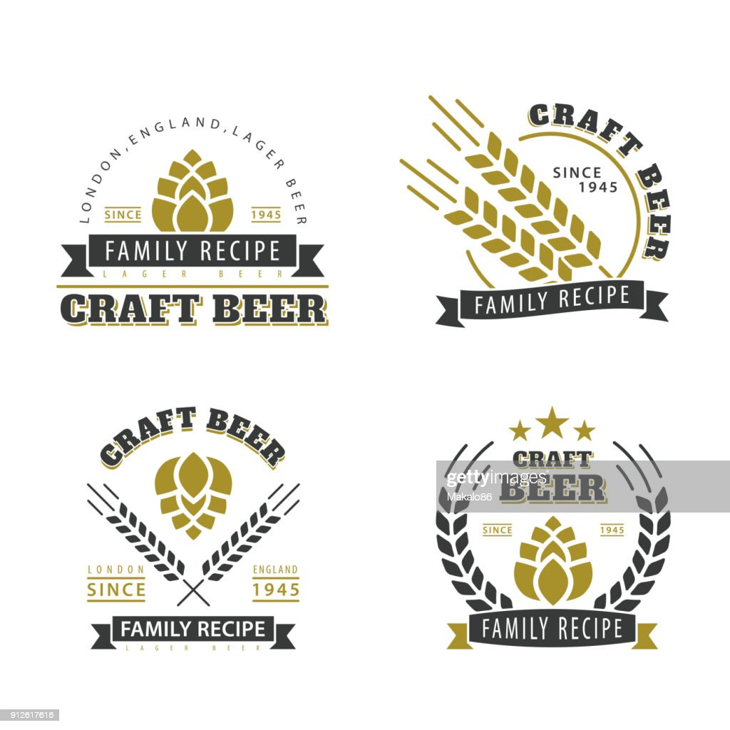 Beer set of emblems.