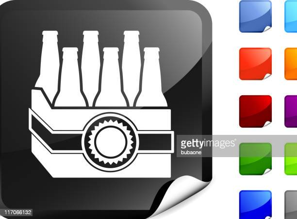beer six pack internet royalty free vector art - lager stock illustrations, clip art, cartoons, & icons