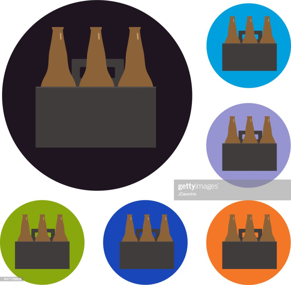 Beer Six Pack Set Of Icons High Res Vector Graphic Getty Images