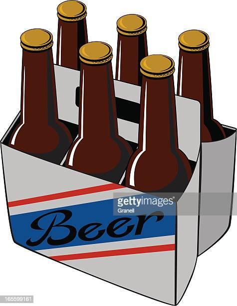 ビール 6 パック - 6缶パック点のイラスト素材/クリップアート素材/マンガ素材/アイコン素材