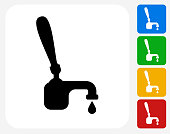 Beer Tap Handle Icon Flat Graphic Design