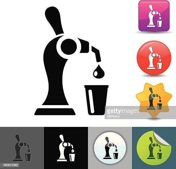 beer tap icon | solicosi series - lager stock illustrations, clip art, cartoons, & icons
