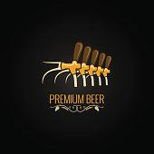 beer tap vintage ornate design background