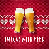Beer valentine poster.