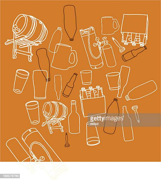 beer - india pale ale stock illustrations, clip art, cartoons, & icons