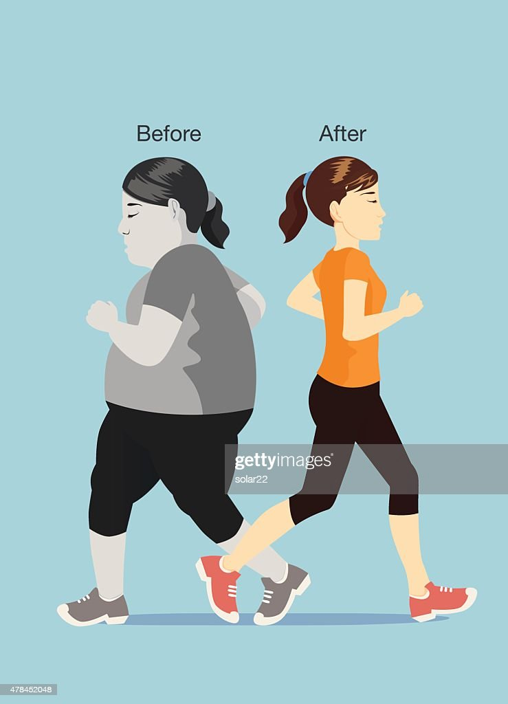 Befor and after of jogging
