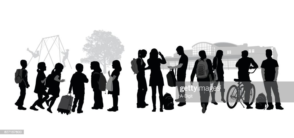 Beginning And End Of School : stock illustration
